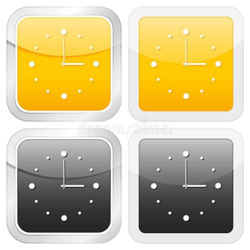 Quadratische Ikonenborduhr lizenzfreie abbildung