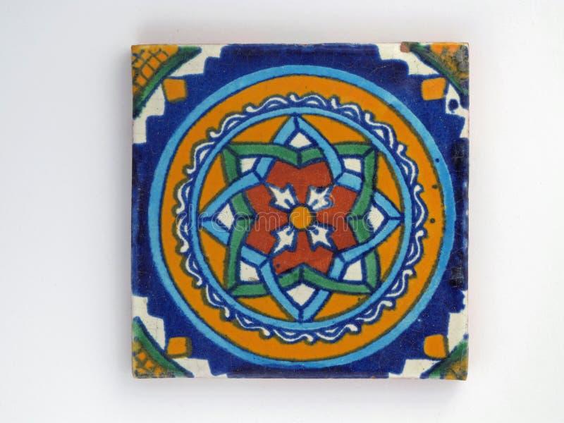 Quadratische mexikanische Fliese lizenzfreie stockbilder