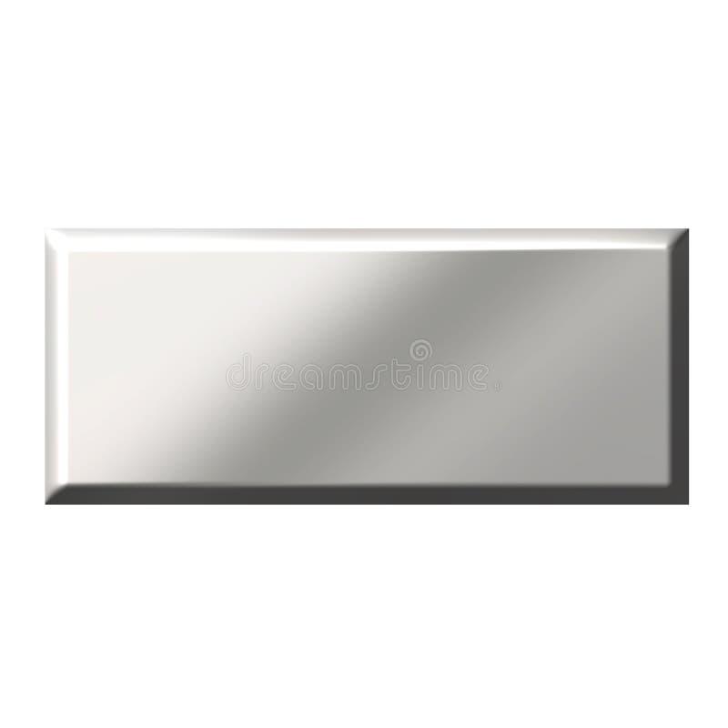 quadratische Stahltaste 3D stock abbildung