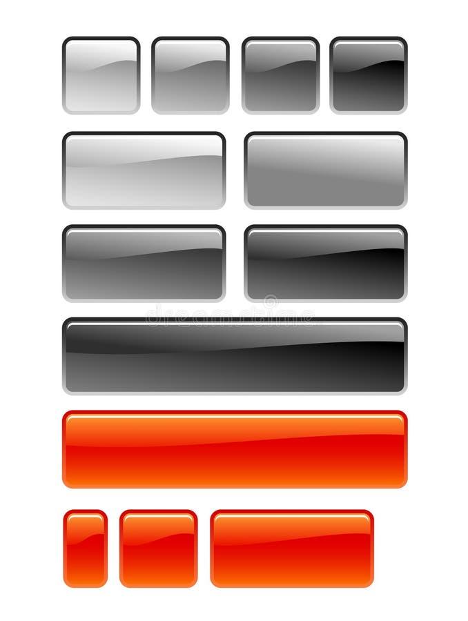 Quadratische Taste lizenzfreie abbildung