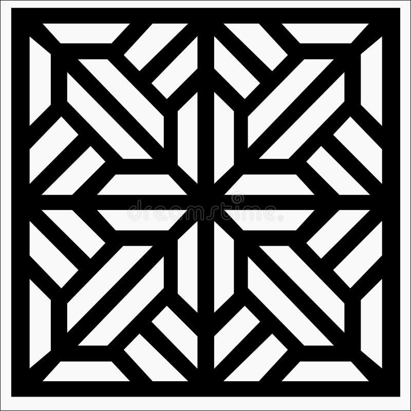 Quadratische Verzierung vektor abbildung