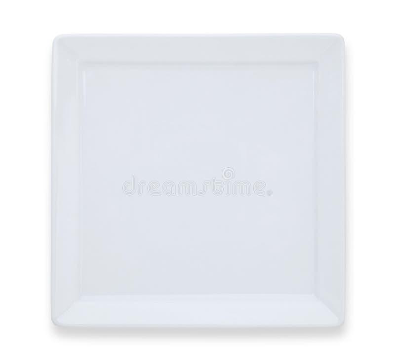 quadratische weiße Platte lizenzfreies stockfoto