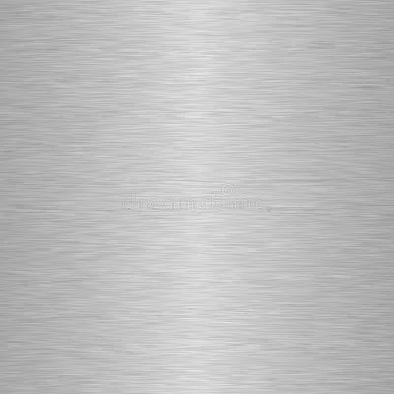 Quadratischer Aluminiummetallhintergrund stock abbildung
