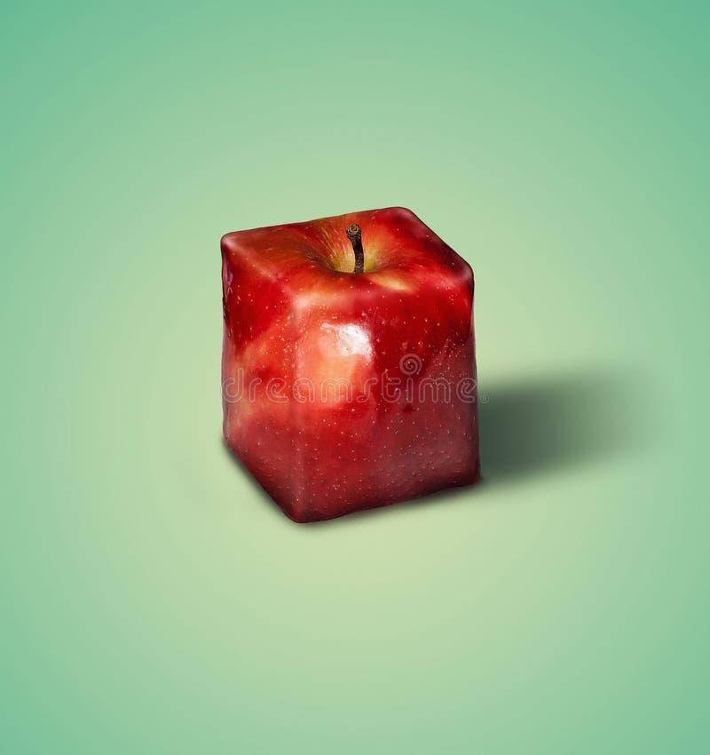 Quadratischer Apfel stockbild