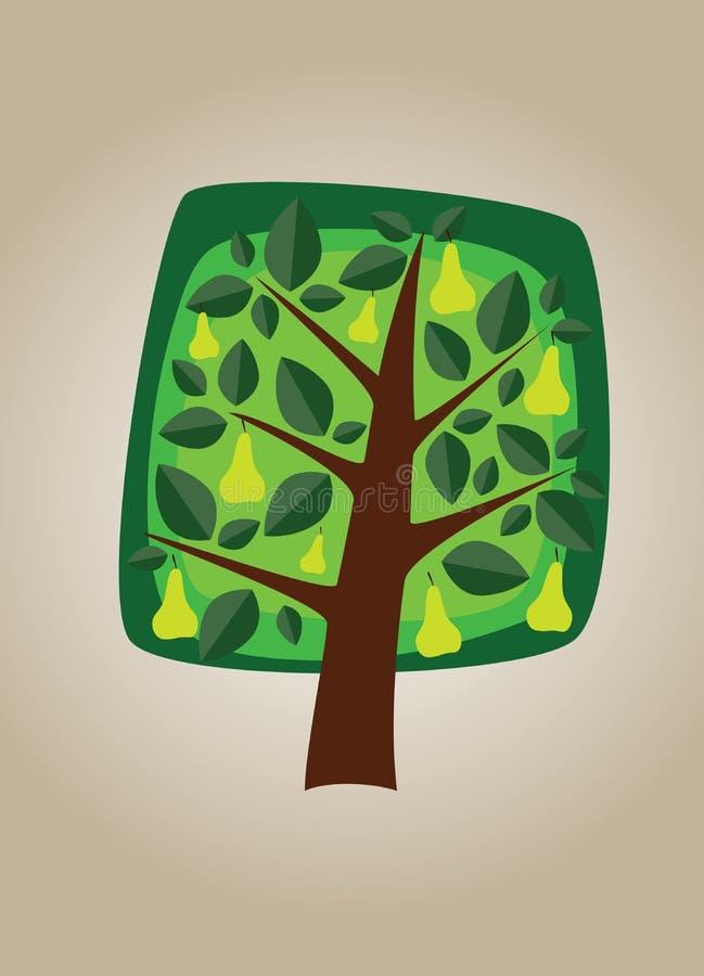 Quadratischer Baum 05 vektor abbildung
