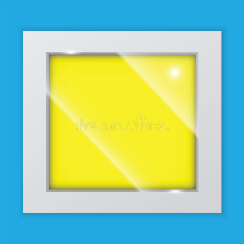 Quadratischer Bilderrahmen vektor abbildung. Illustration von leer ...
