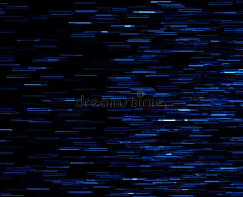 Quadratischer blauer klarer 8-Bit-Pixelpunkt verschachtelte Raumexplosion stock abbildung