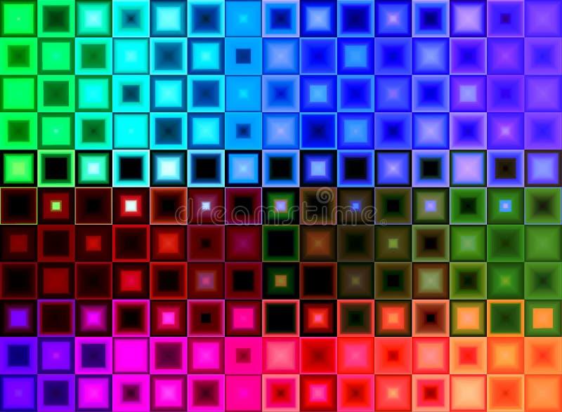 Quadratischer Block-Hintergrund lizenzfreies stockbild