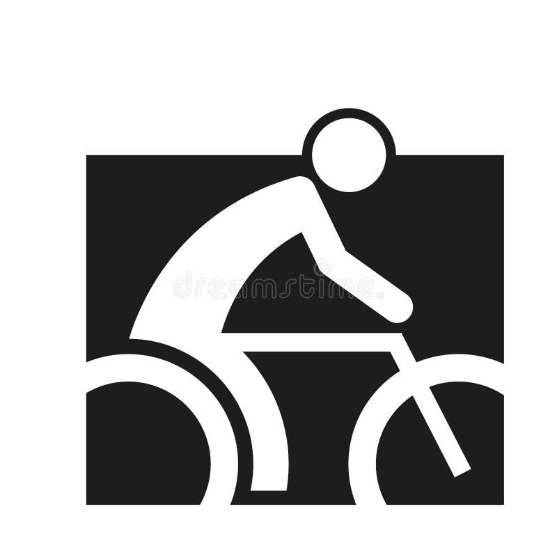 Quadratischer Block-Radfahrensport-Zahl Entwurfs-Symbol-Vektor-Illustration stock abbildung