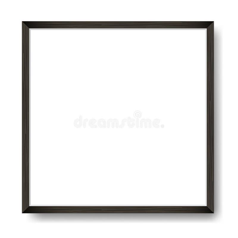 Quadratischer freier Raum gestaltetes Plakat auf weißer Wand Rand der Farbband-, Lorbeer- und Eichenblätter stock abbildung