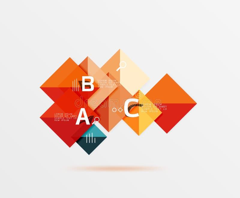 Quadratischer geometrischer abstrakter Hintergrund stock abbildung