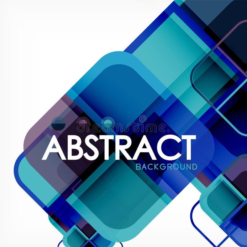 Quadratischer geometrischer abstrakter Hintergrund, Papierkunstdesign für Abdeckungsdesign, Buchschablone, Plakat, CDabdeckungsil vektor abbildung