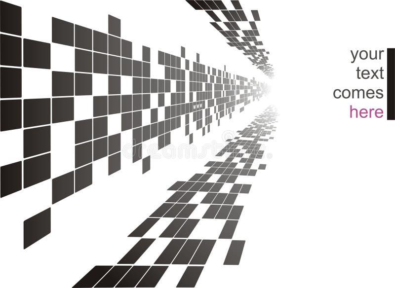 Quadratischer Hintergrund lizenzfreie abbildung