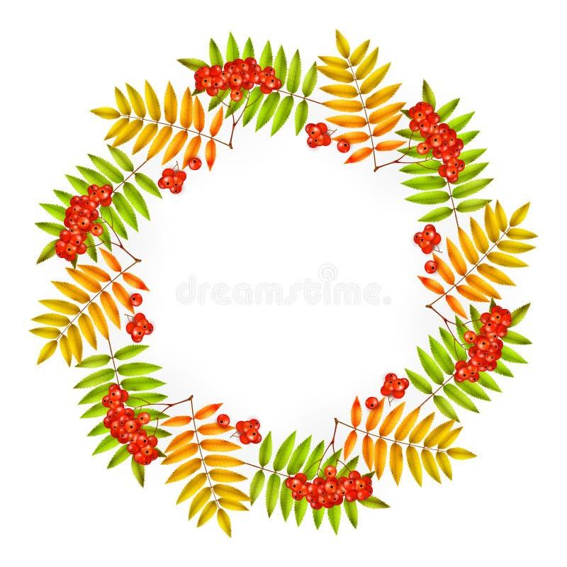 Quadratischer Hintergrund des Vektorherbstes; grüne gelbe Blätter und der Aufschrift Sommerschlussverkauf; gemacht von den grünen lizenzfreie abbildung