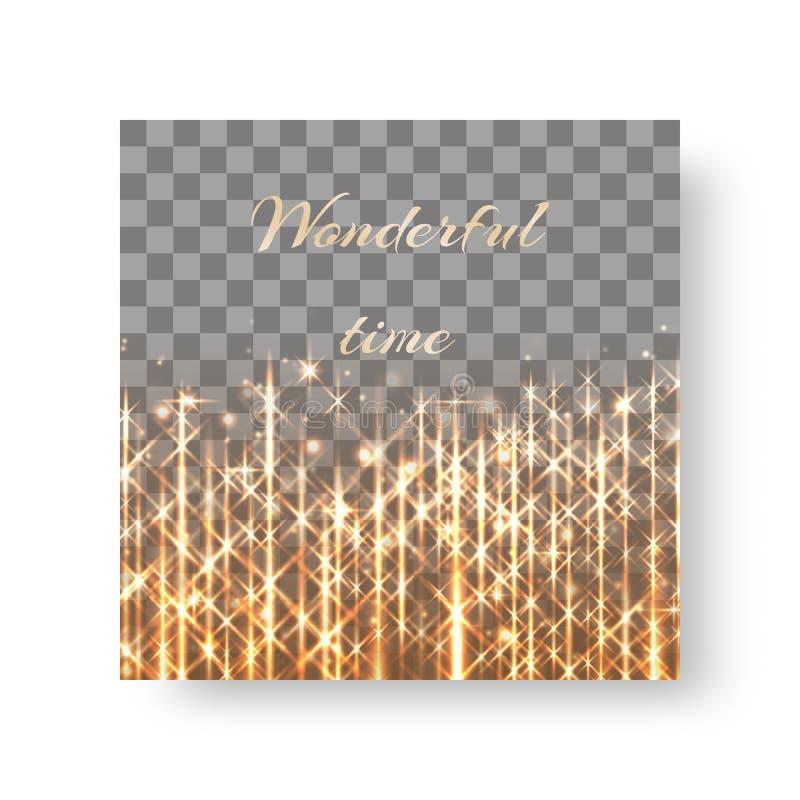 Quadratischer Hintergrund mit goldenem Glanz lizenzfreie abbildung