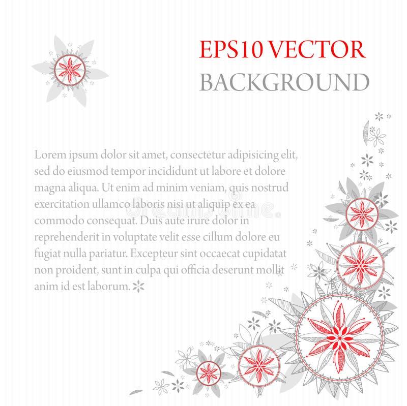 Quadratischer Hintergrund mit Textbereich und dekorativen Grenzen stock abbildung