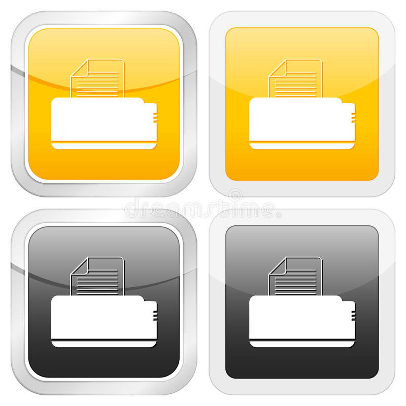 Quadratischer Ikonendrucker lizenzfreie abbildung