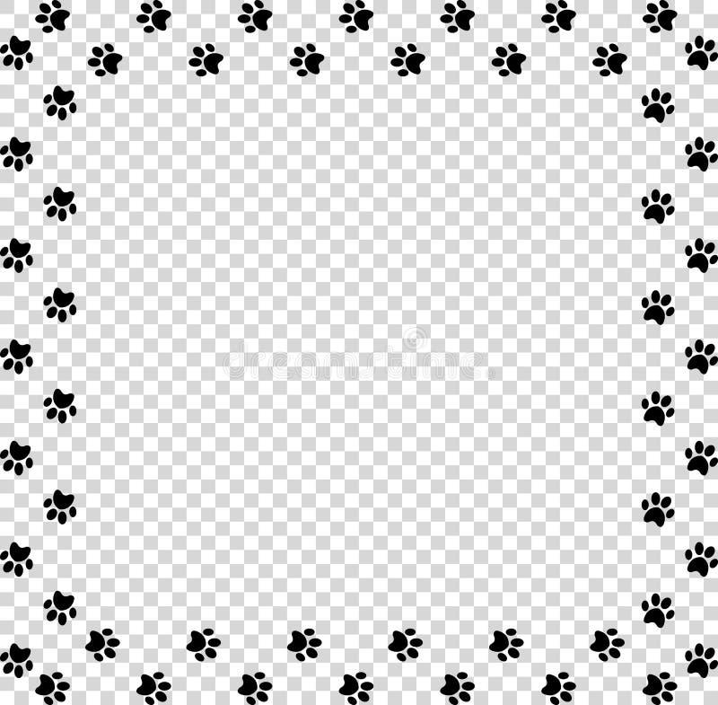 Quadratischer Rahmen Gemacht Von Den Schwarzen Tierpfotenabdrücken ...