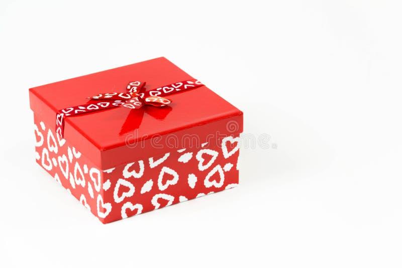 Quadratischer Süßigkeitskasten der Valentinsgrüße lokalisiert lizenzfreie stockfotos