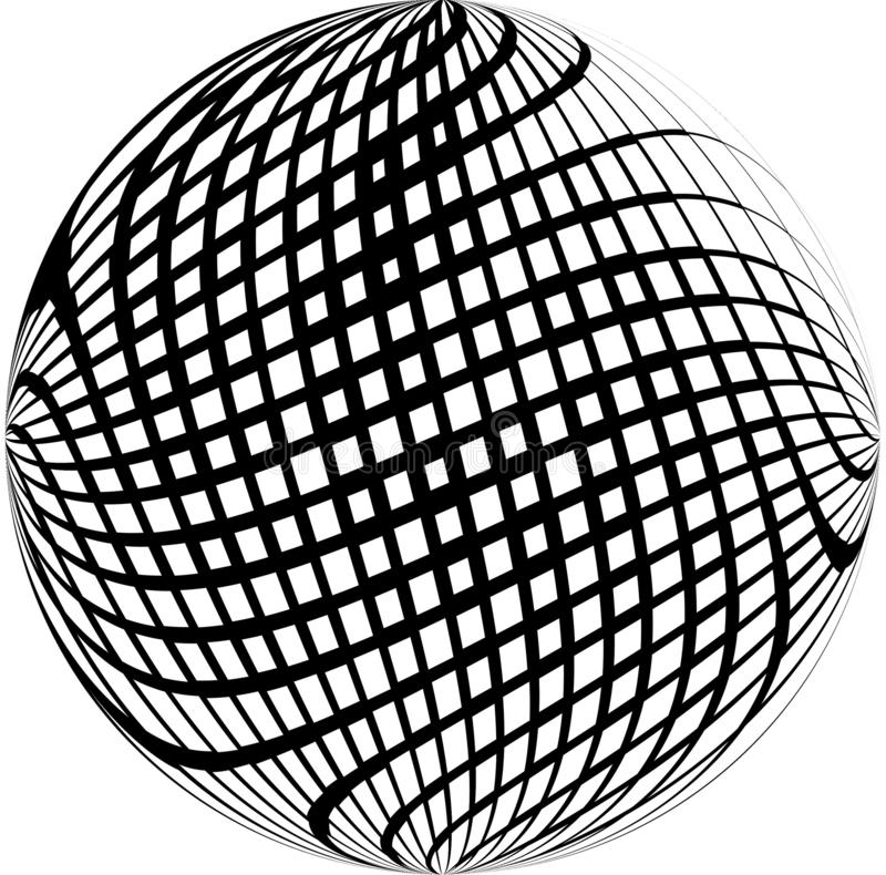 Quadratischer Schwarzweiss-Bereich der Zusammenfassung lizenzfreie abbildung