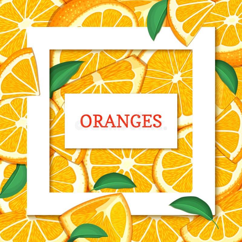 Quadratischer Weißer Rahmen- Und Rechteckaufkleber Auf Orange ...