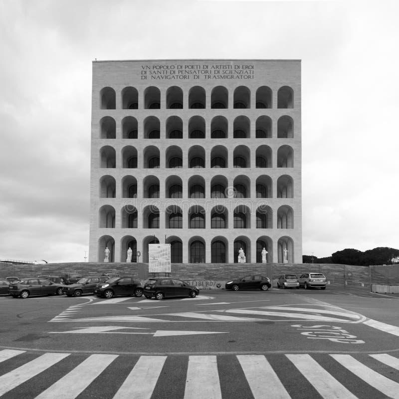 Quadratisches Colosseum stockfotografie