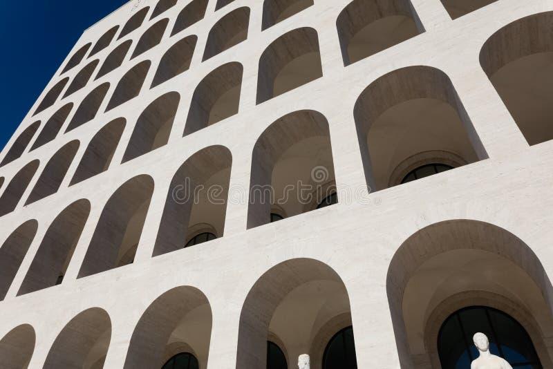 Quadratisches Colosseum, Rom stockbilder