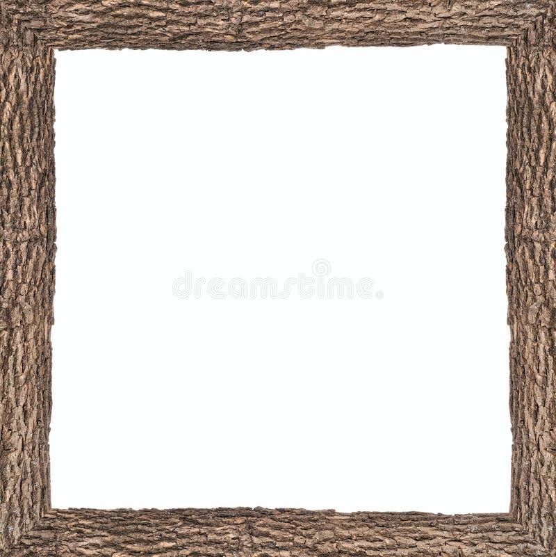 Quadratisches Feld mit hölzerner Barkebeschaffenheit stockfotos
