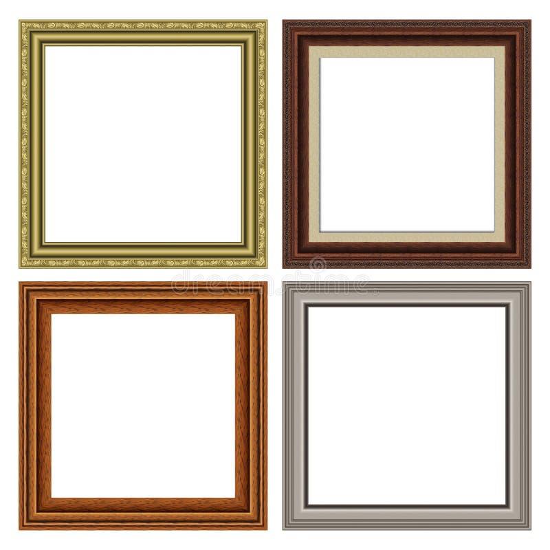 Quadratisches Feldset stockfotos