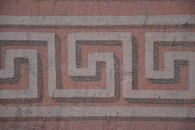 Quadratisches gewundenes Muster stockbild