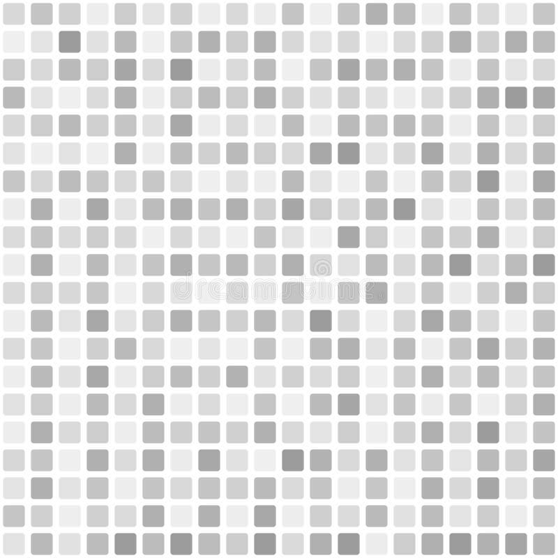 Quadratisches Muster Nahtloser Fliesenvektorhintergrund lizenzfreie abbildung