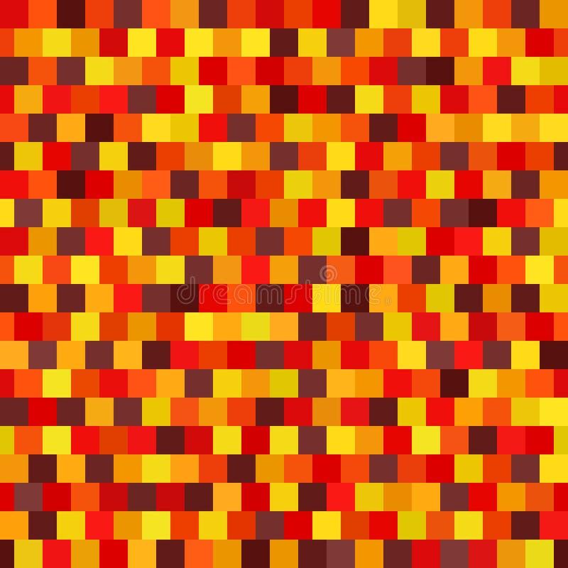 Quadratisches Muster Nahtloser vektorhintergrund stock abbildung