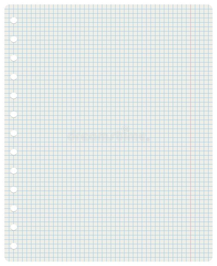 Quadratisches Notizbuchblatt lizenzfreie stockbilder