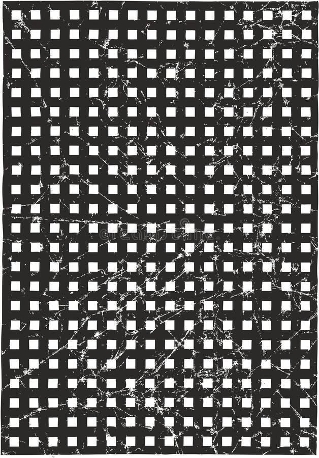 Quadratisches Vektor-Schwarz-Muster zerknittert oder Vektor-schwarzer Hintergrund zerknittert vektor abbildung