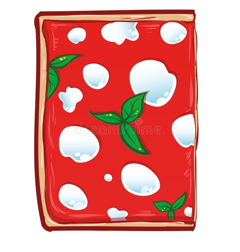 Quadrato affettato di pizza illustrazione di stock