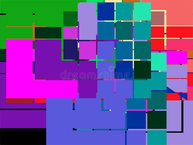Quadrato astratto blu fotografia stock