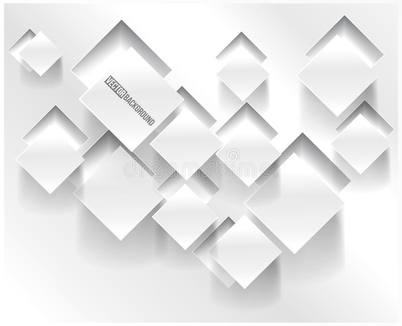 Quadrato astratto del fondo di vettore. Web design illustrazione vettoriale
