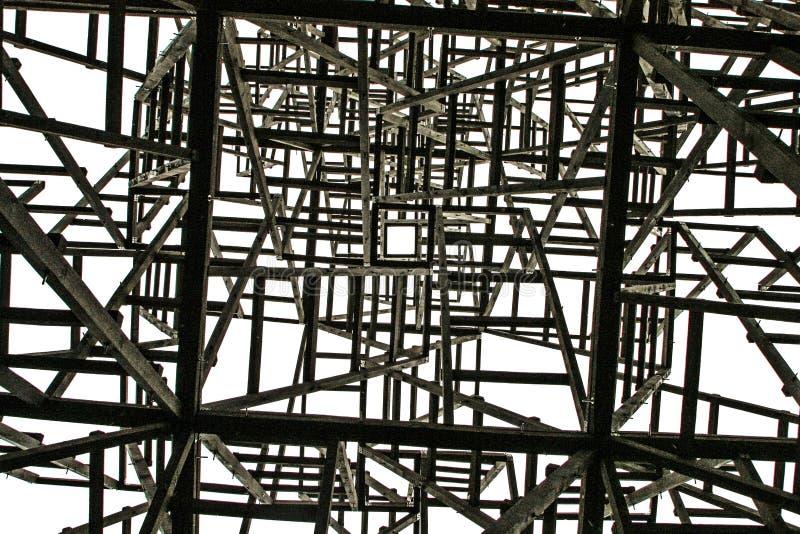Quadrato bianco sui precedenti delle strutture caotiche fotografia stock