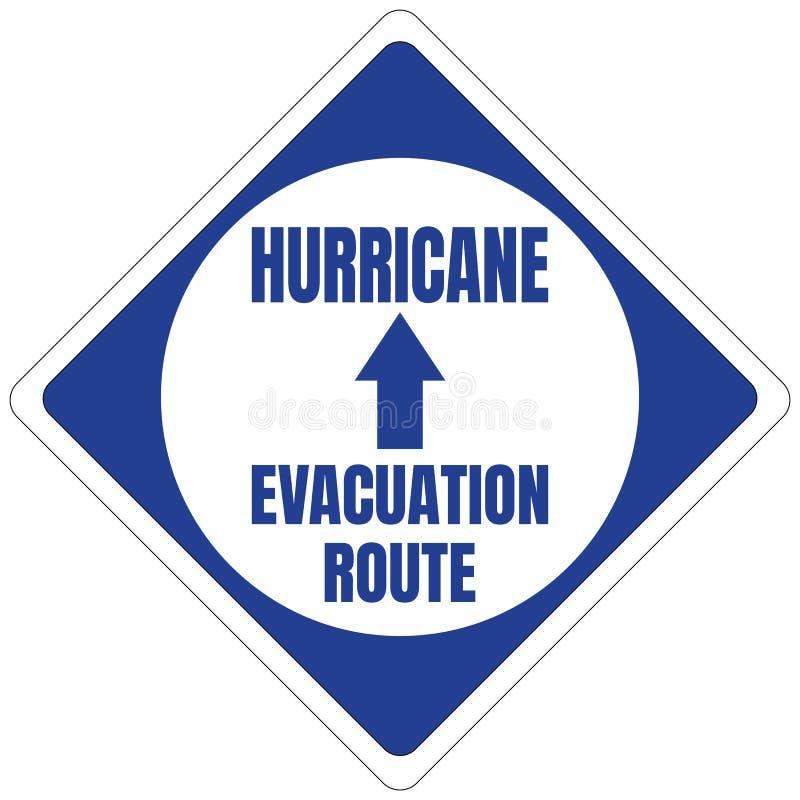 Quadrato blu del segnale stradale della via di fuga di uragano illustrazione di stock