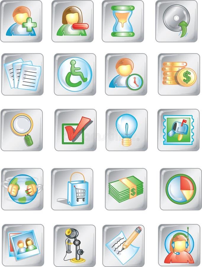Quadrato buttons1 illustrazione di stock