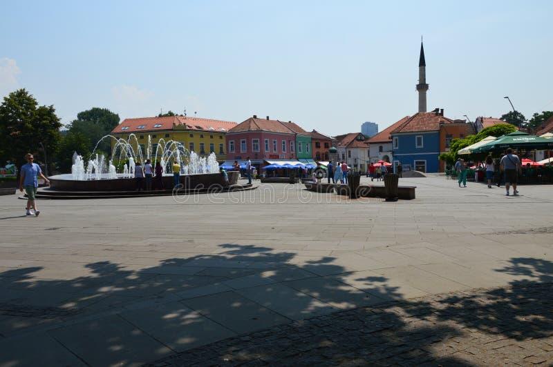 Quadrato centrale di libertà a Tuzla fotografie stock libere da diritti