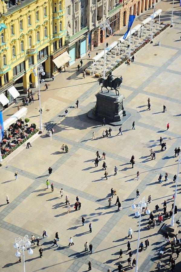 Quadrato centrale di Zagabria fotografie stock
