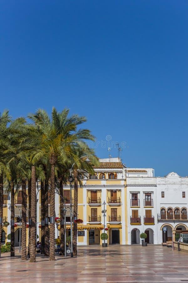 Quadrato centrale Plaza de Espana in città storica Ecija fotografia stock libera da diritti