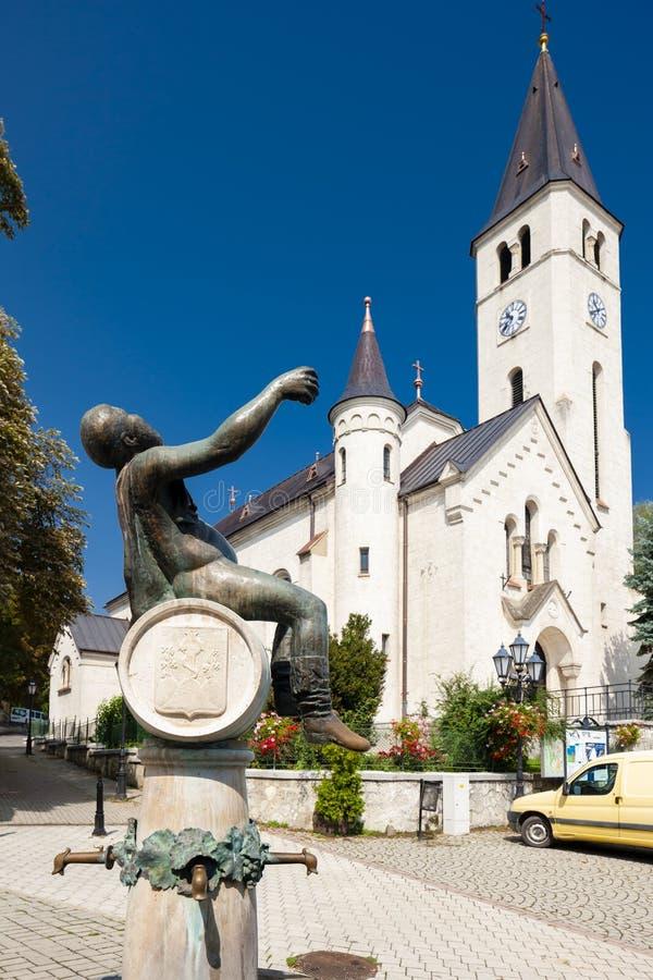 quadrato centrale in Tokaj, Ungheria immagine stock libera da diritti
