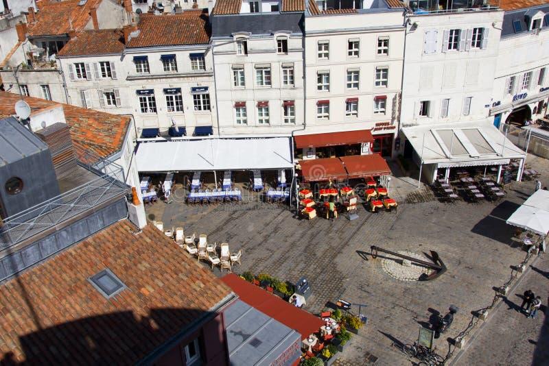 Quadrato Charming - La Rochelle fotografie stock