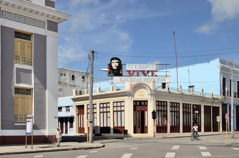 Quadrato in Cienfuegos, Cuba immagini stock libere da diritti