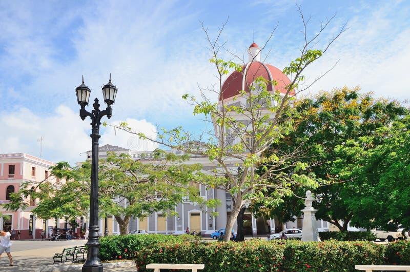 Quadrato in Cienfuegos, Cuba fotografie stock