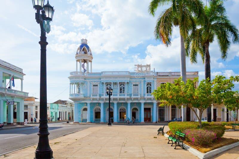 Quadrato Cuba di Jose Martin del villaggio di Cienfuegos immagini stock