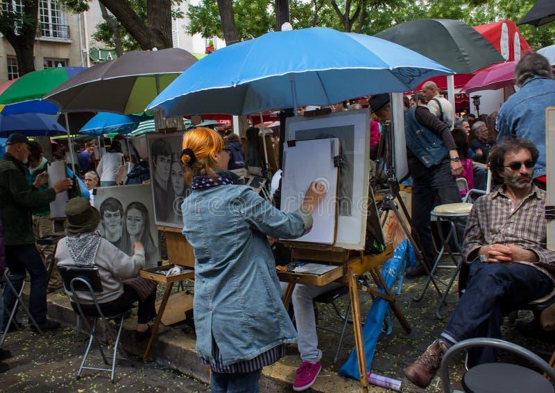 Quadrato degli artisti di Montmartre immagine stock
