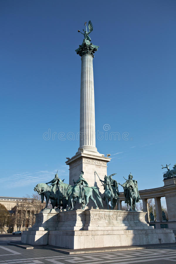 Quadrato degli eroi a Budapest, Ungheria immagini stock
